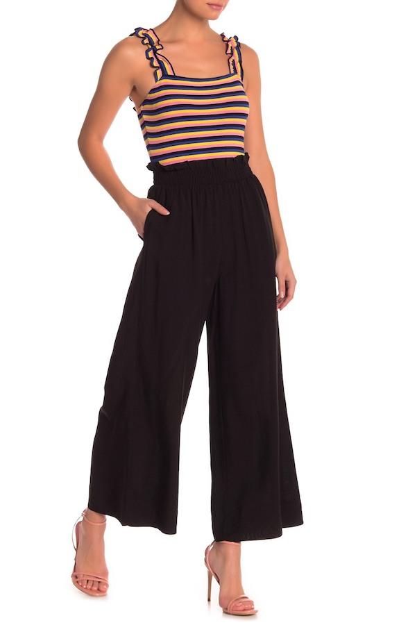 Elodie loungewear black wide leg pants