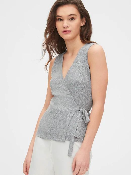 gap wrap top loungewear