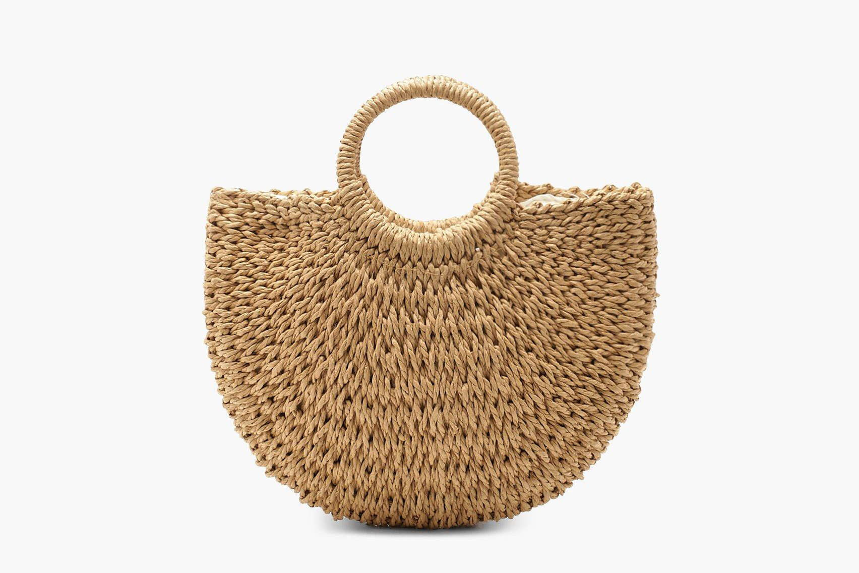 straw bags boohoo
