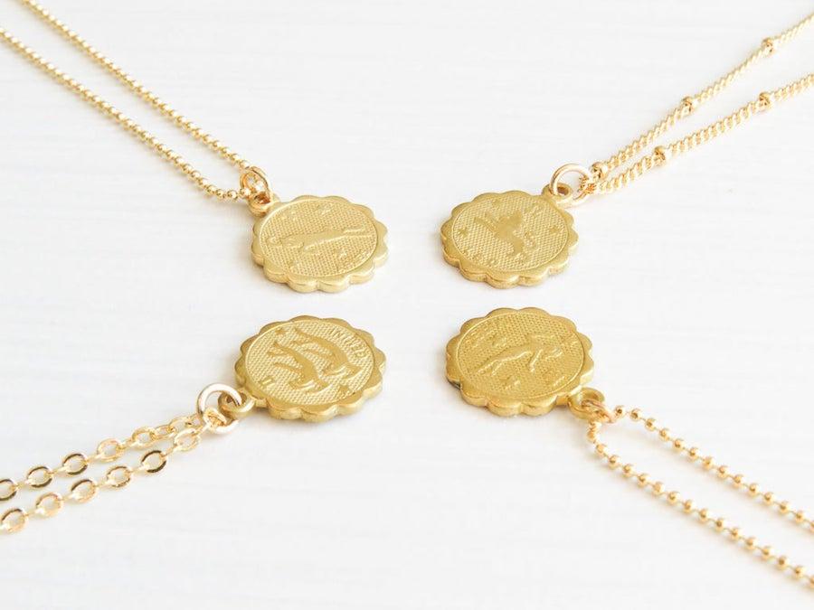 Etsy zodiac sign necklace