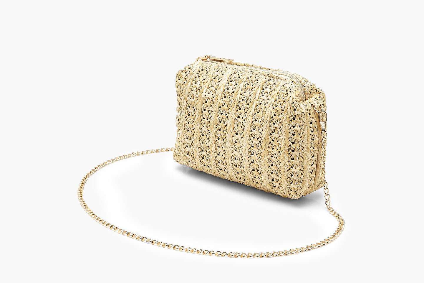 straw bags crossover boohoo