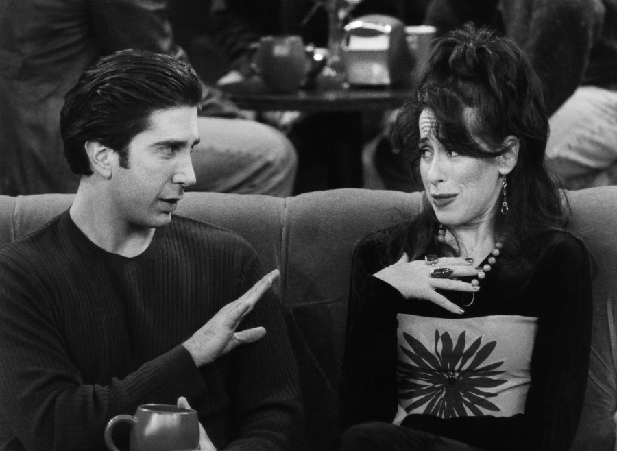 maggie wheeler as janice on Friends with ross