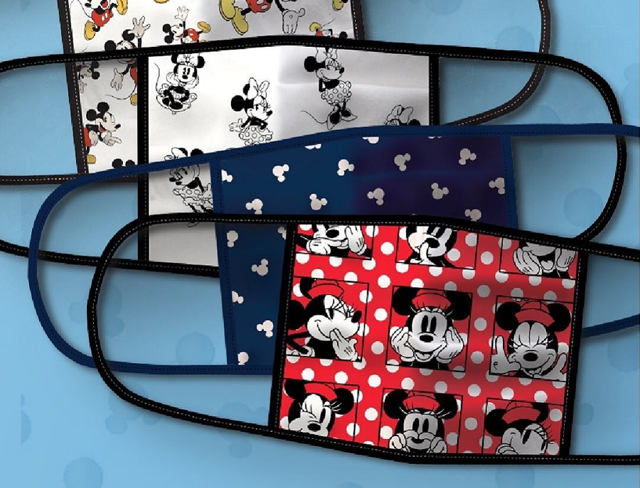 disney face masks, with minnie mouse and mickey
