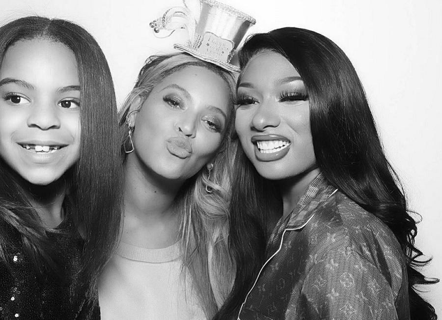 beyonce, megan thee stallion, and blue ivy, savage feat beyonce