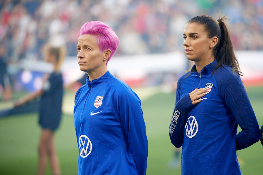 alex morgan and megan rapinoe, equal pay