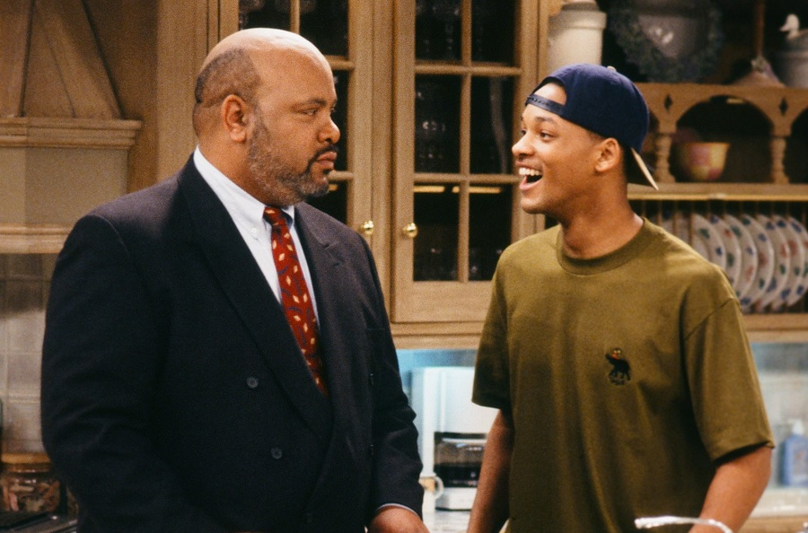 will smith and james avery, uncle phil, in fresh prince of bel-air