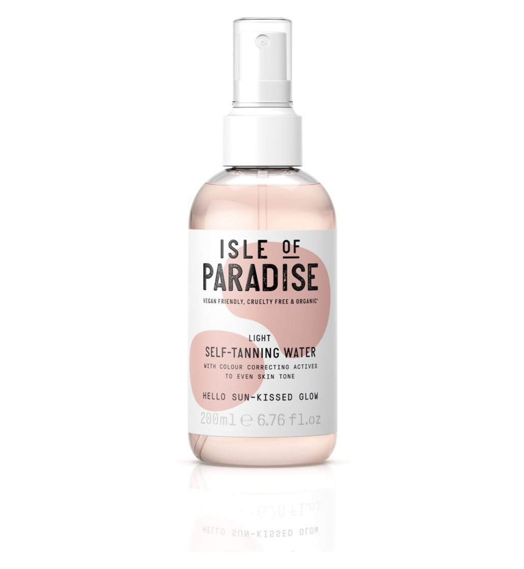 isle of paradise self tanning water, best self tanner for fair skin