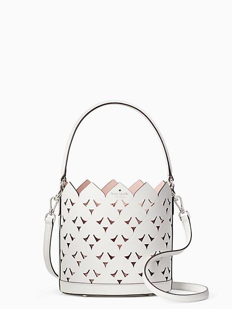 kate spade white bucket bag on sale