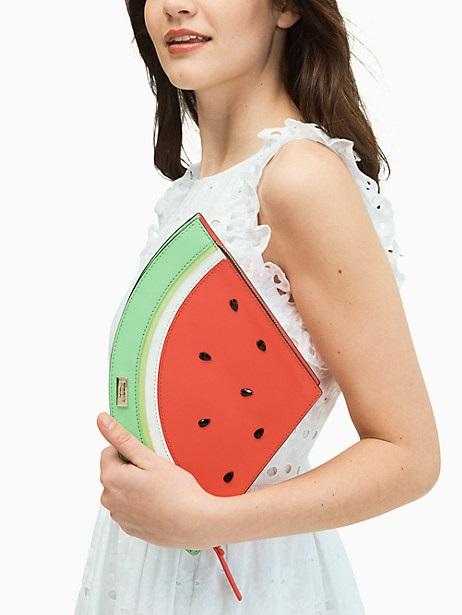 kate spade watermelon clutch on sale