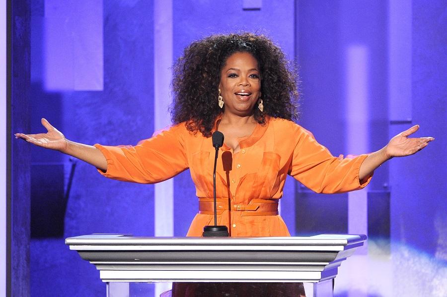 oprah speaking at the NAACP image awards