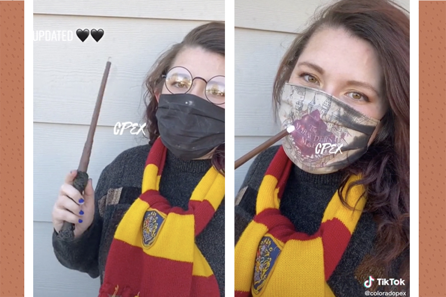 harry potter face mask, marauder's map cloth face mask from TikTok