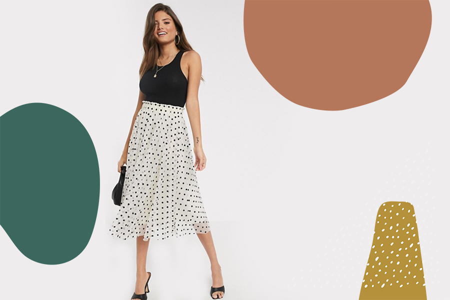 pleated midi skirts for spring and summer