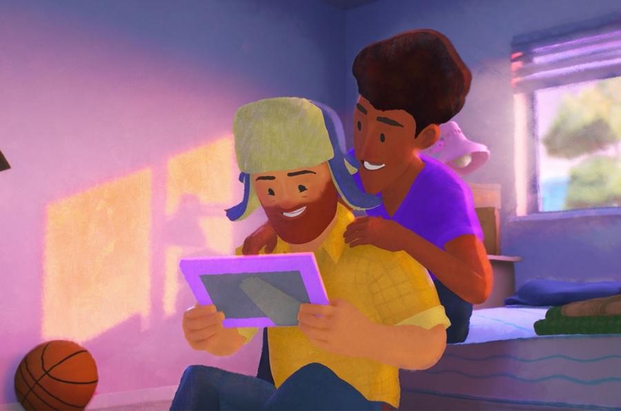 """Pixar """"Out"""" short film movie still"""