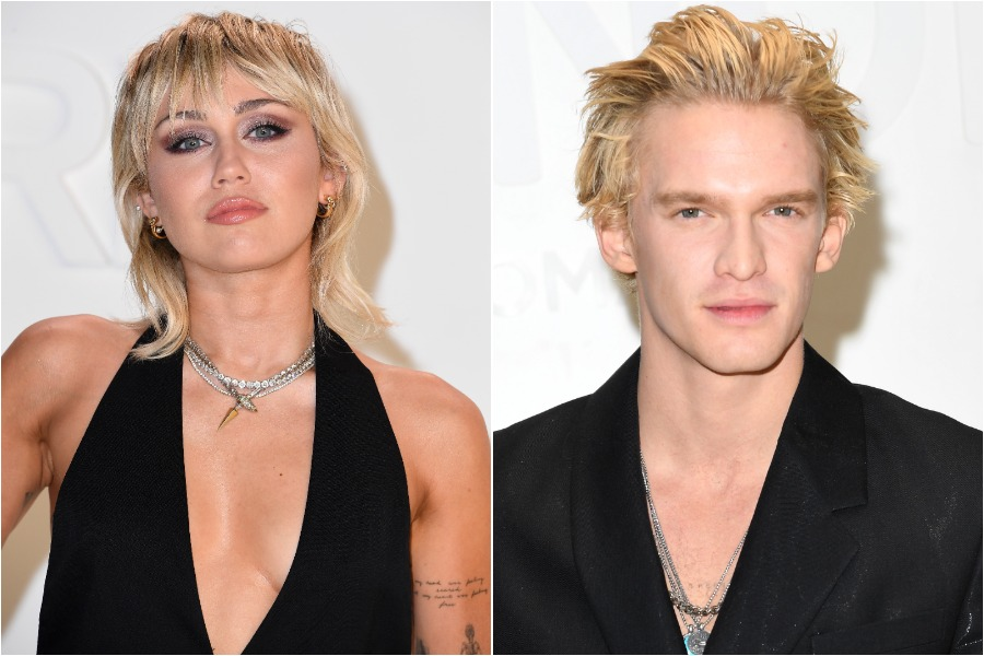 miley cyrus and cody simpson, matching mohawks