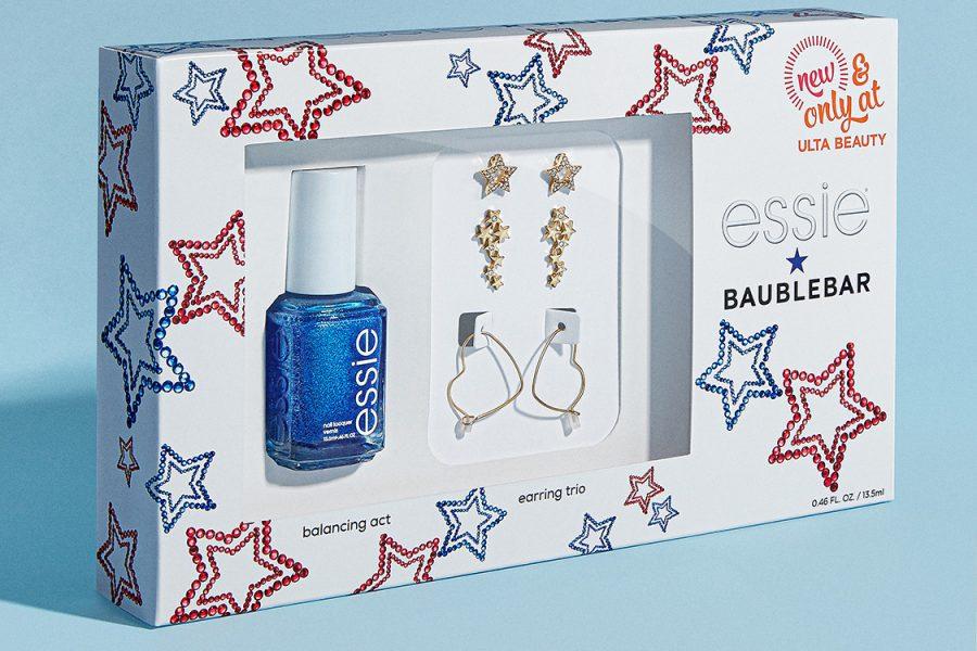 BaubleBar Essie nail polish earring kit