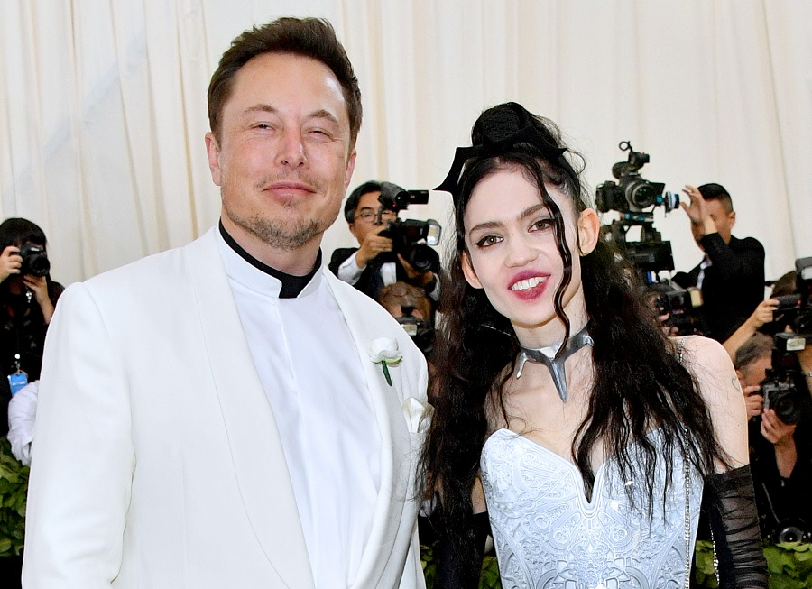 elon musk and grimes at the met gala