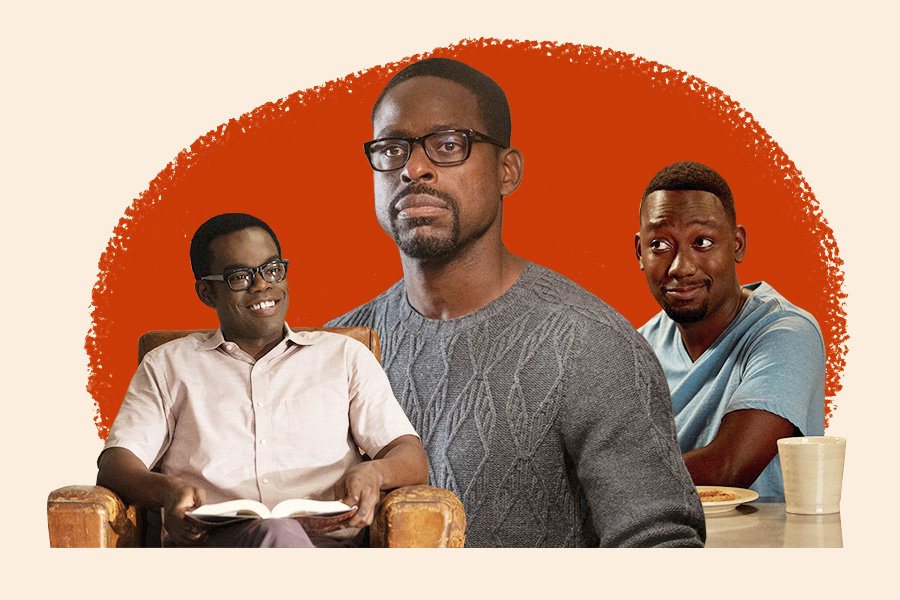 Black TV characters, this is us, new girl, the good place, black characters