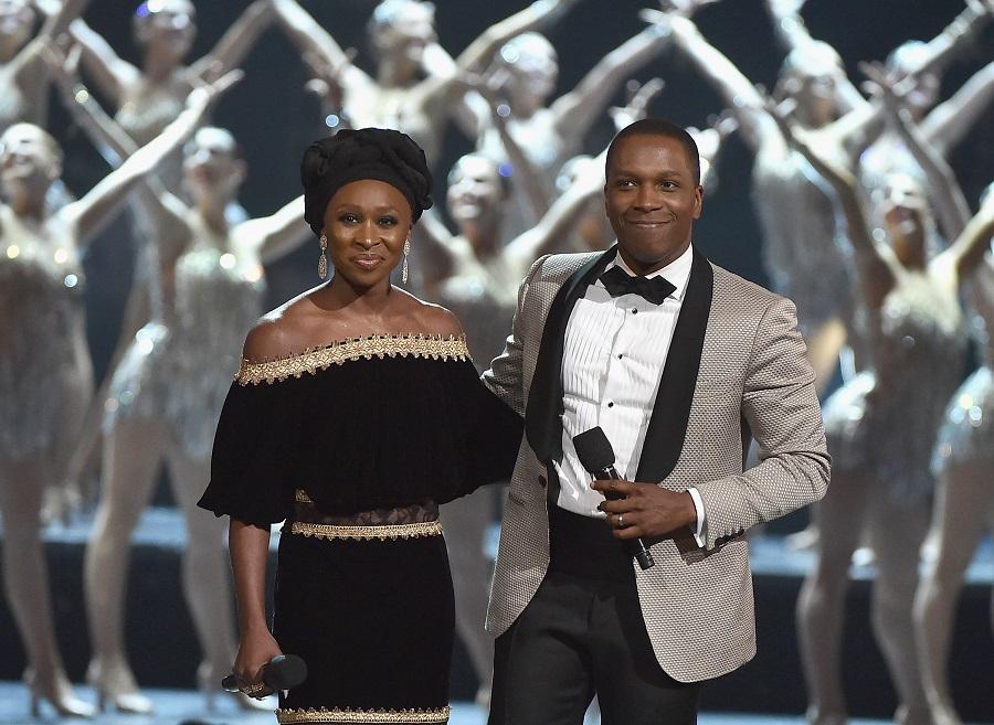 cynthia erivo and leslie odom jr at the tony awards
