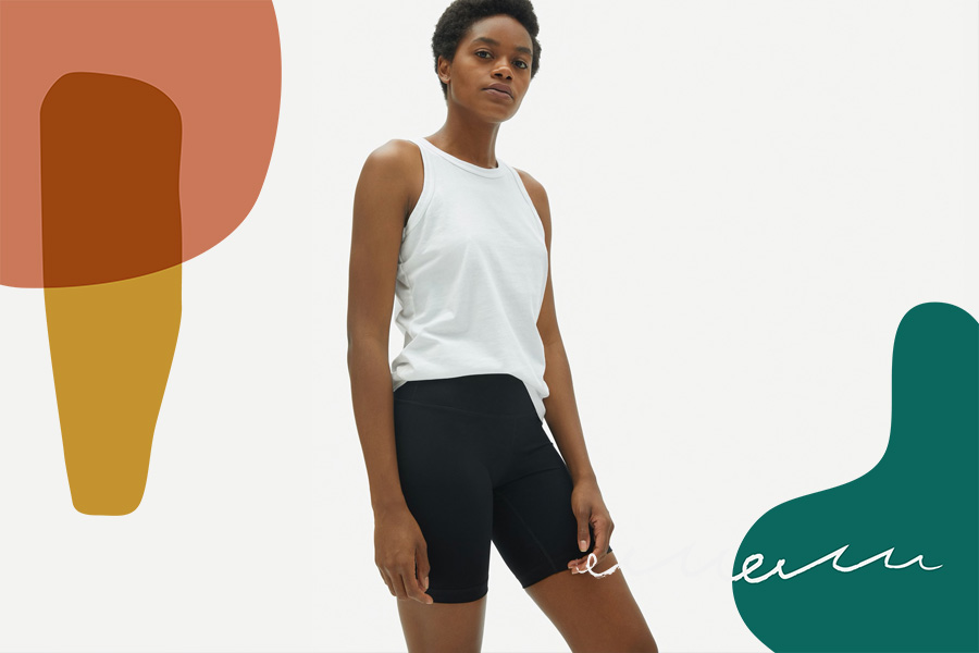 Everlane bike shorts