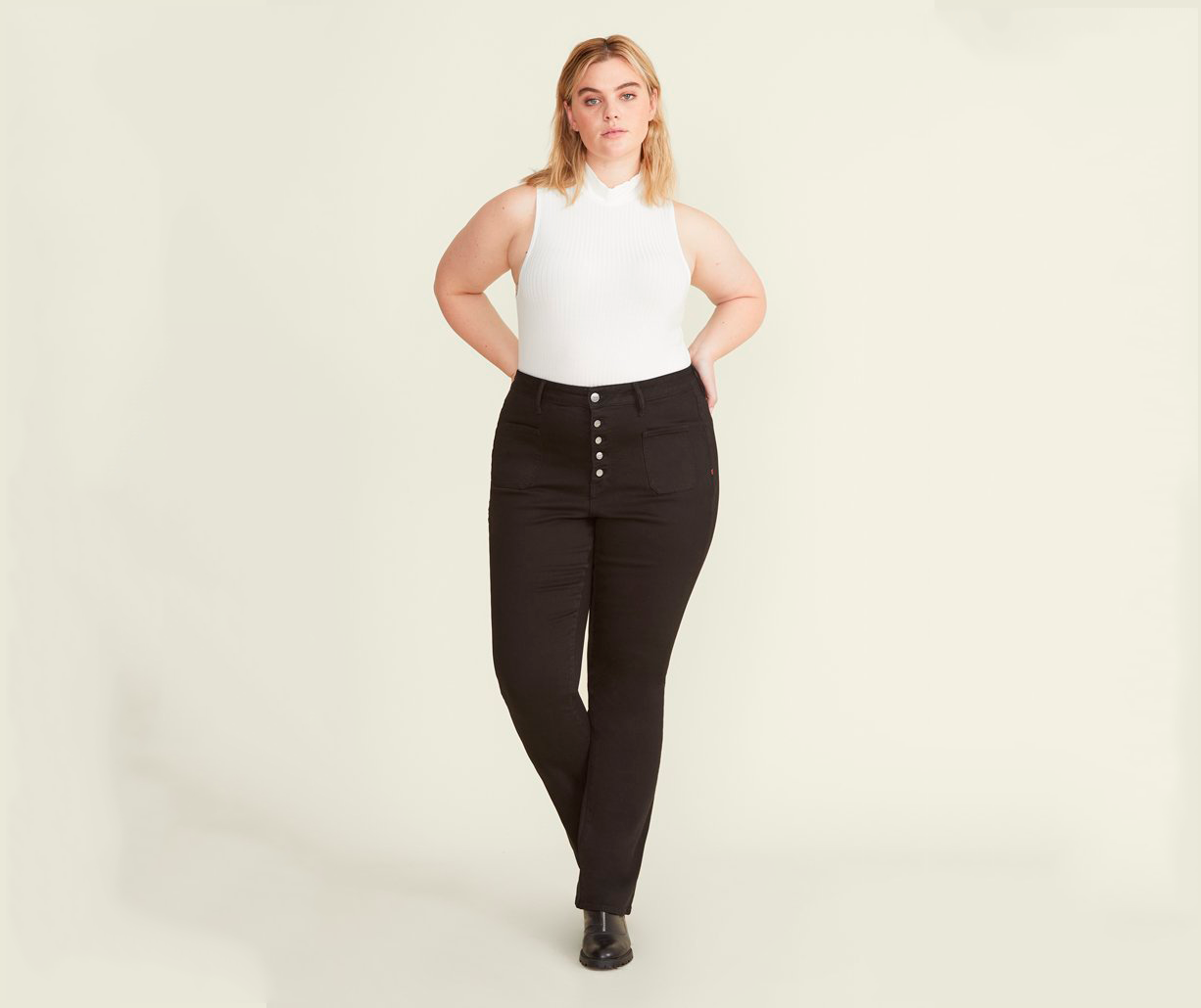 warp and weft high-waisted black jeans, best high-waisted jeans
