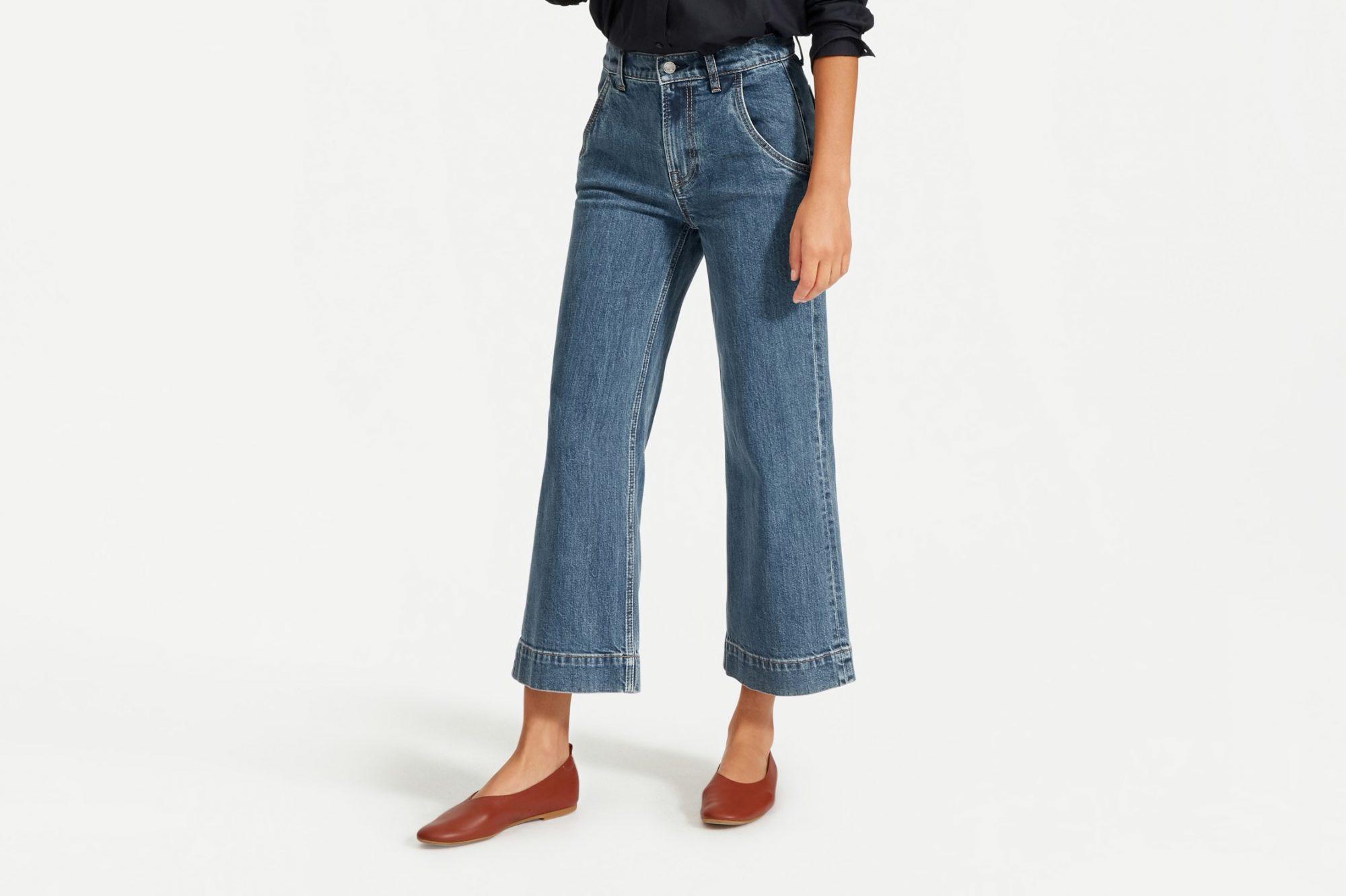 everlane high waisted wide leg jeans, best high waisted jeans