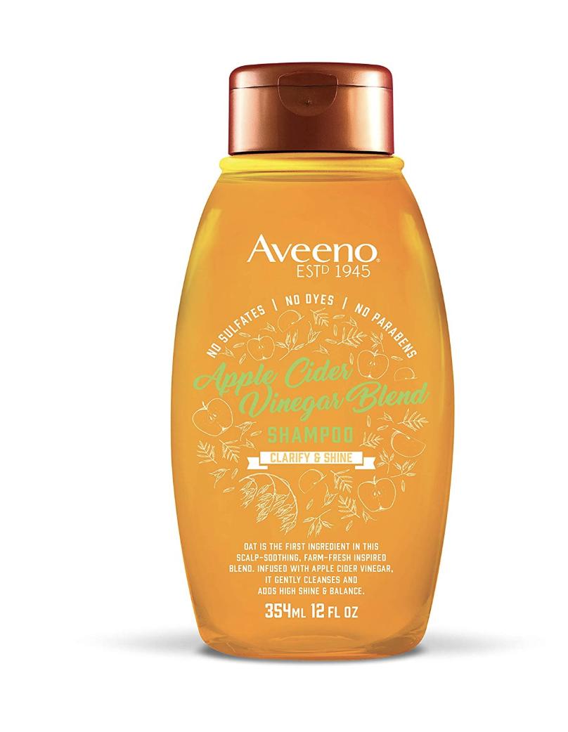 aveeno apple cider vinegar shampoo, best drugstore shampoo for oily hair