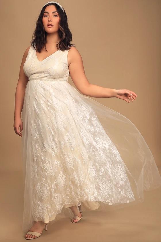 lulus beaded wedding dress