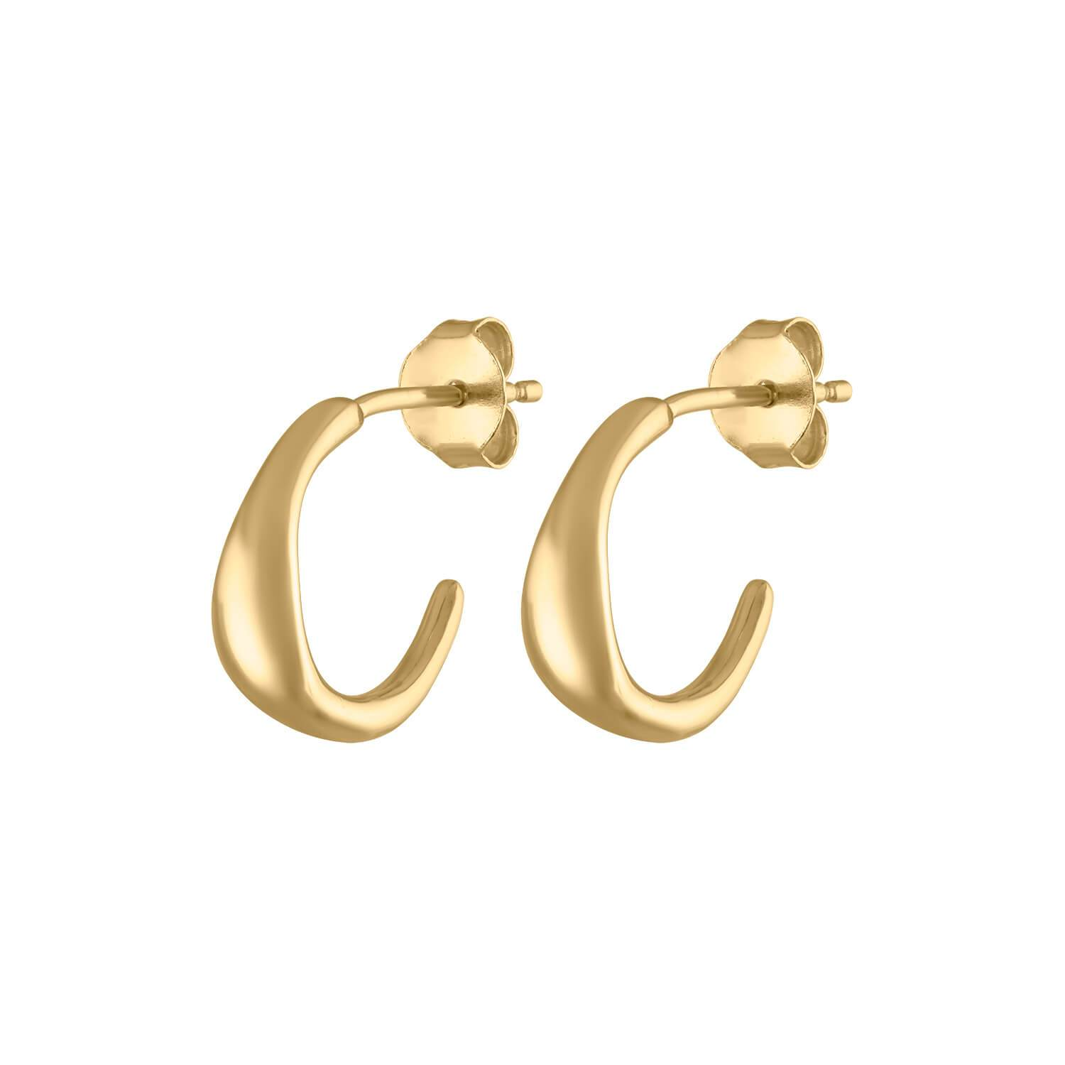 tiny gold hoops