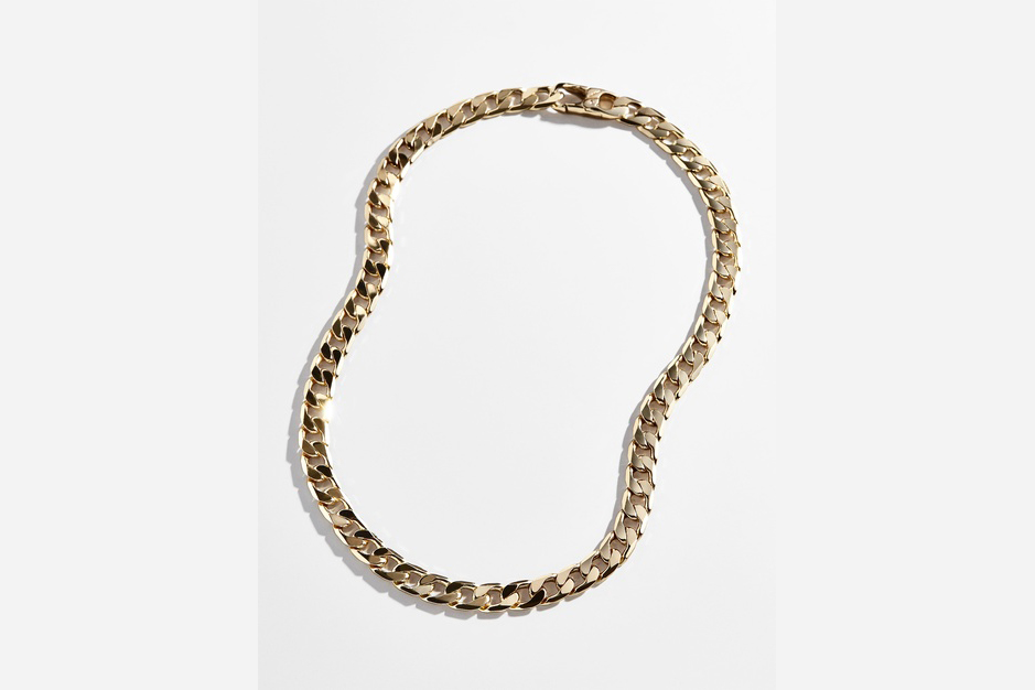 BaubleBar michel seamless clasp curb chain link necklace