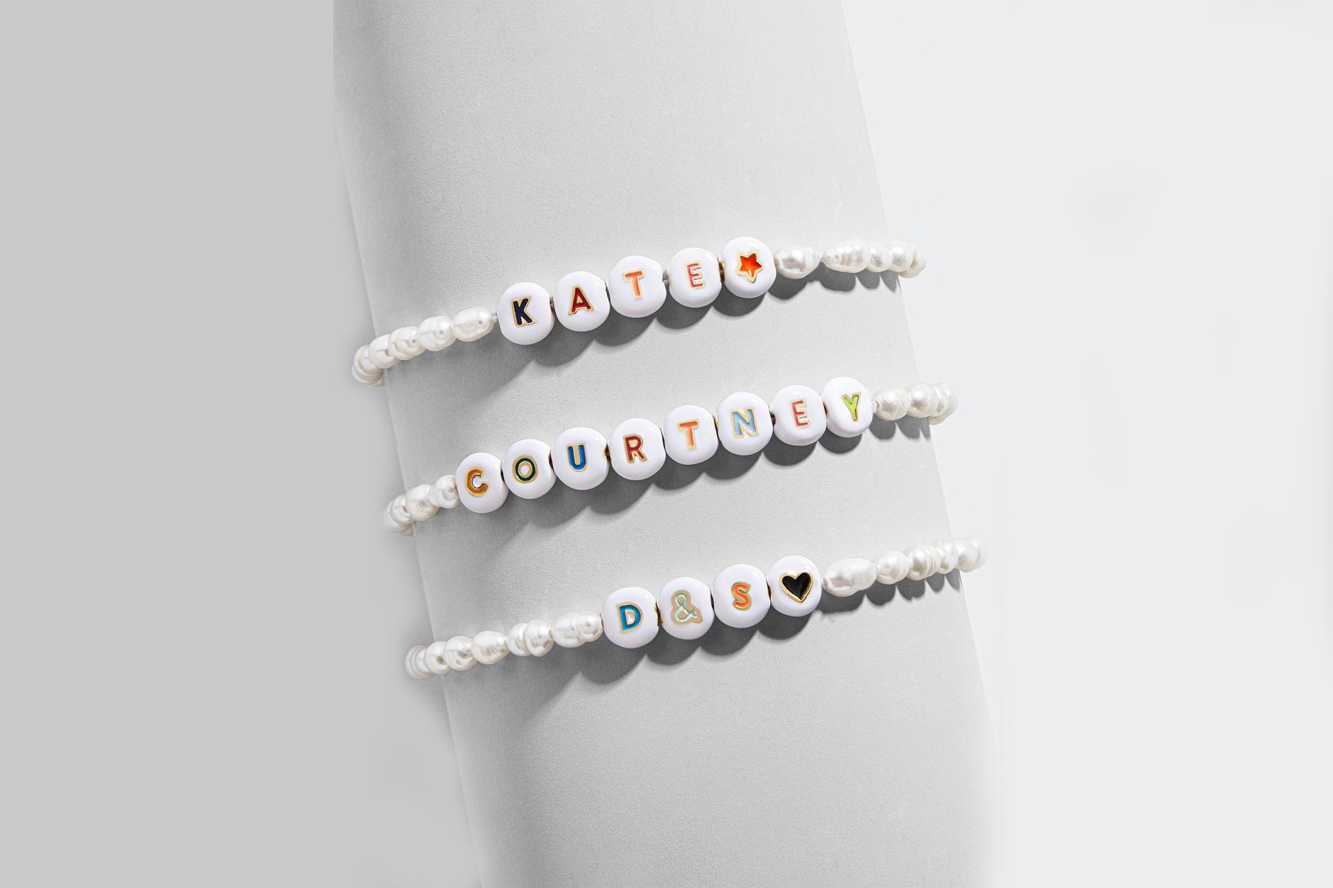 elementary school jewelry BaubleBar pearl initial bracelets