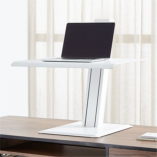 crate and barrel white work from home standing desk
