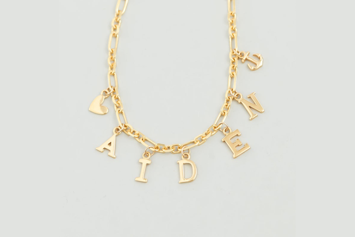 elementary school jewelry Etsy custom chunky chain charm bracelet