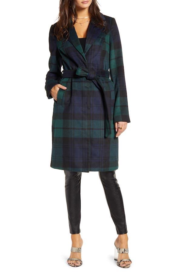 Green and Blue Plaid Coat