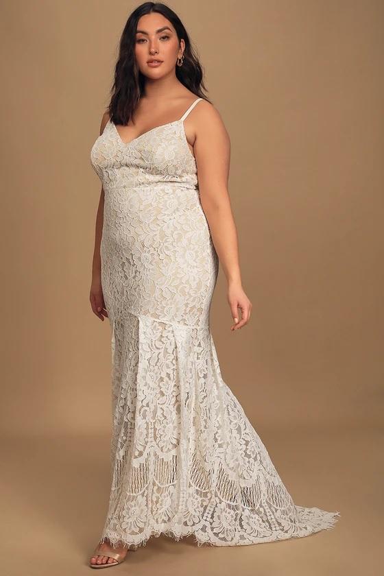 lulus lace wedding dress