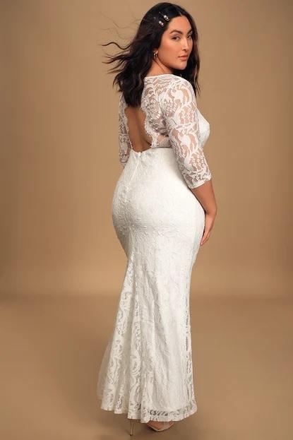 lulus long sleeve wedding dress