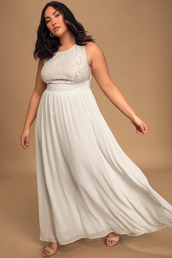 lulus wedding dress under $100 for plus size