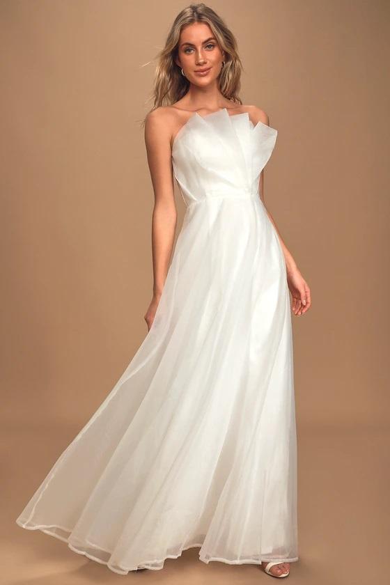 lulus wedding dress organza
