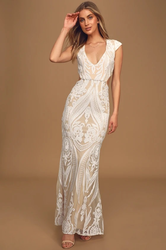 lulus wedding dress under $150