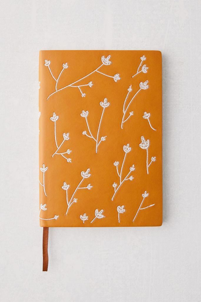 journaling denim orange journal