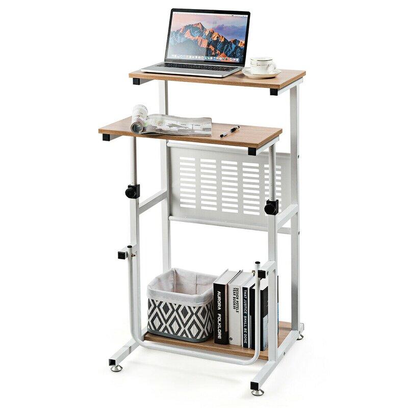 overstock adjustable small space standing desk