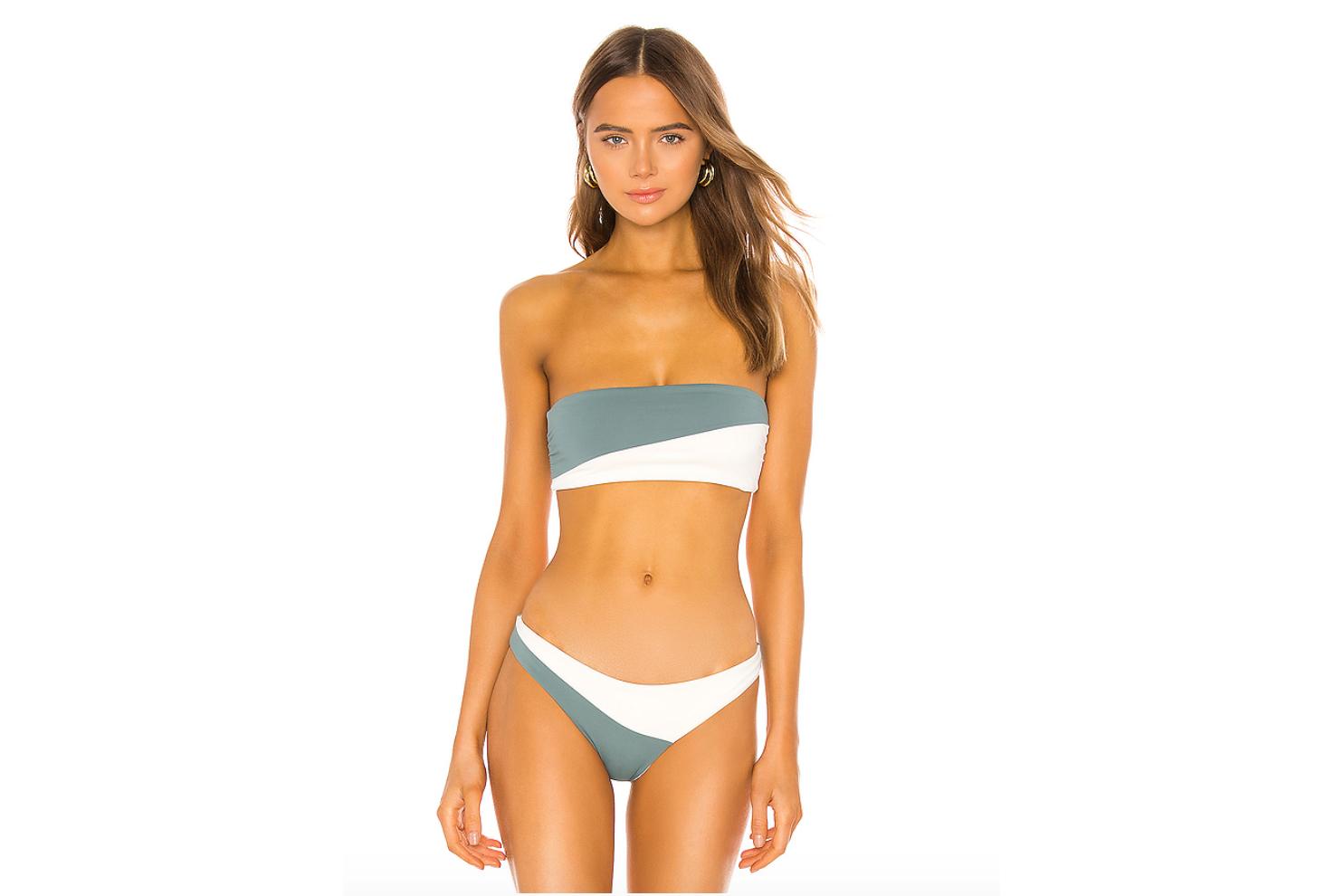 best bikinis color block bandeau