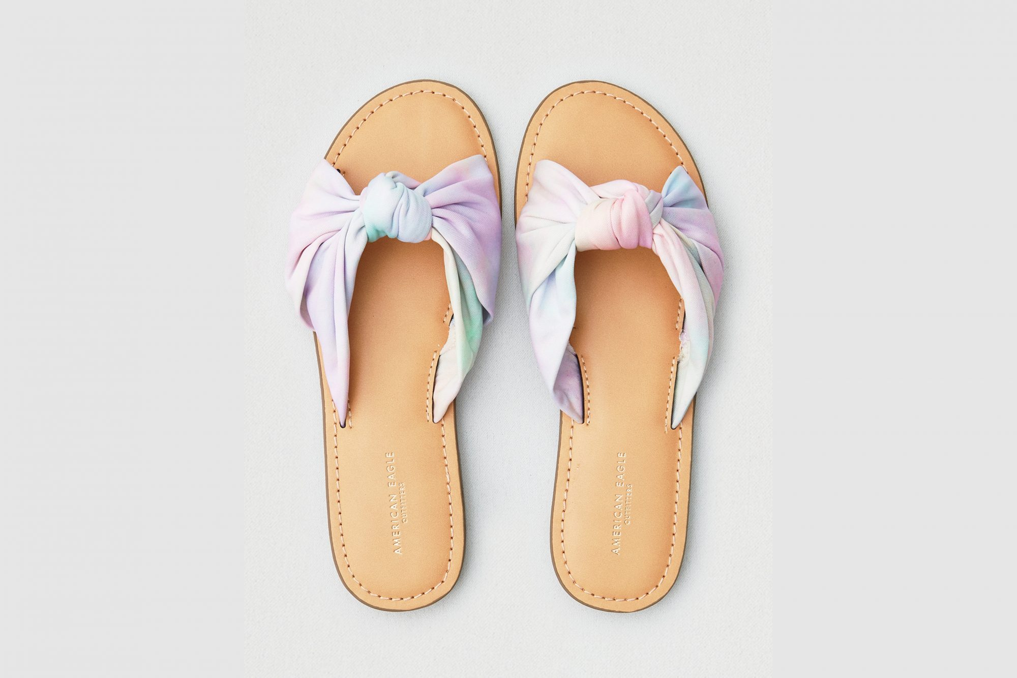 American Eagle tie-dye sandals