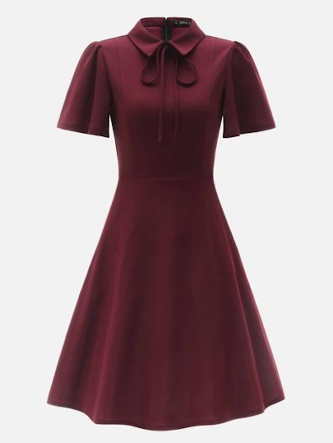 SHEIN maroon dress