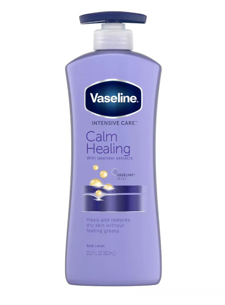 vaseline calm healing lotion, best drugstore body lotion