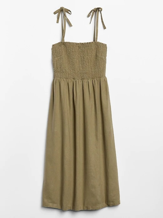gap factory olive green midi dress