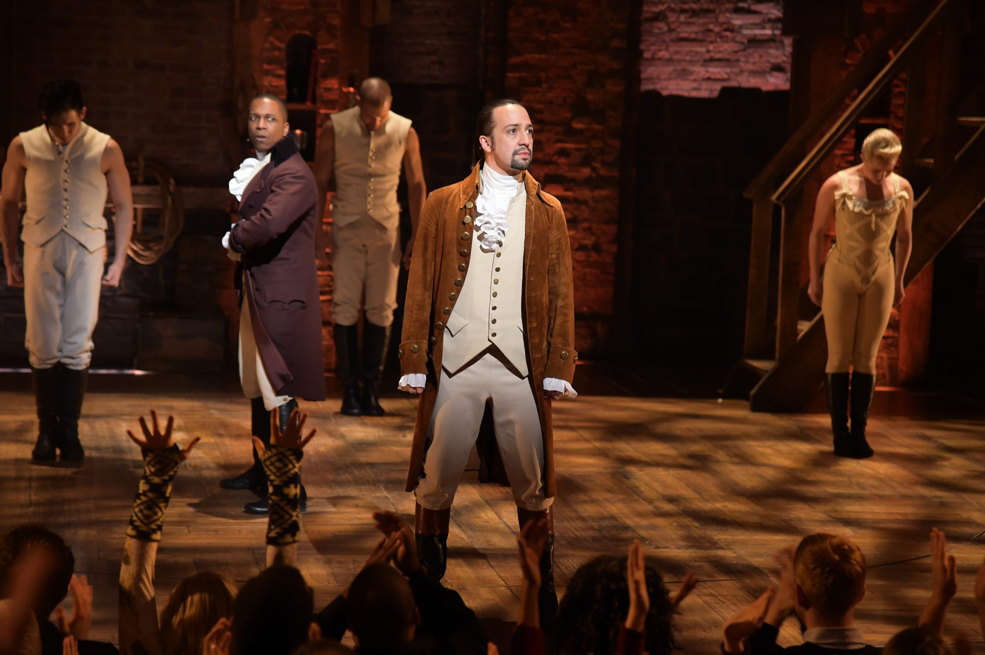 hamilton cast on broadway, lin-manuel miranda