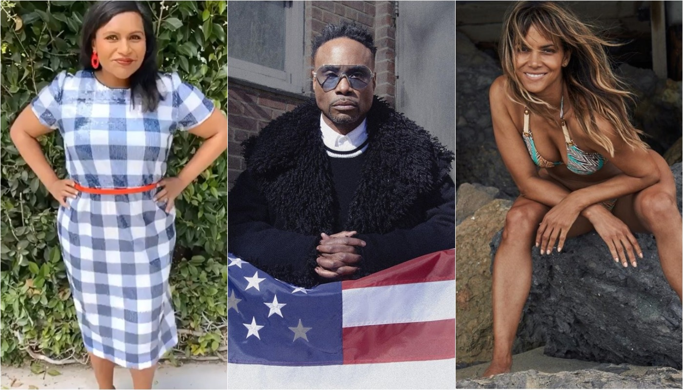 celebrities fourth of july, mindy kaling, billy porter, halle berry
