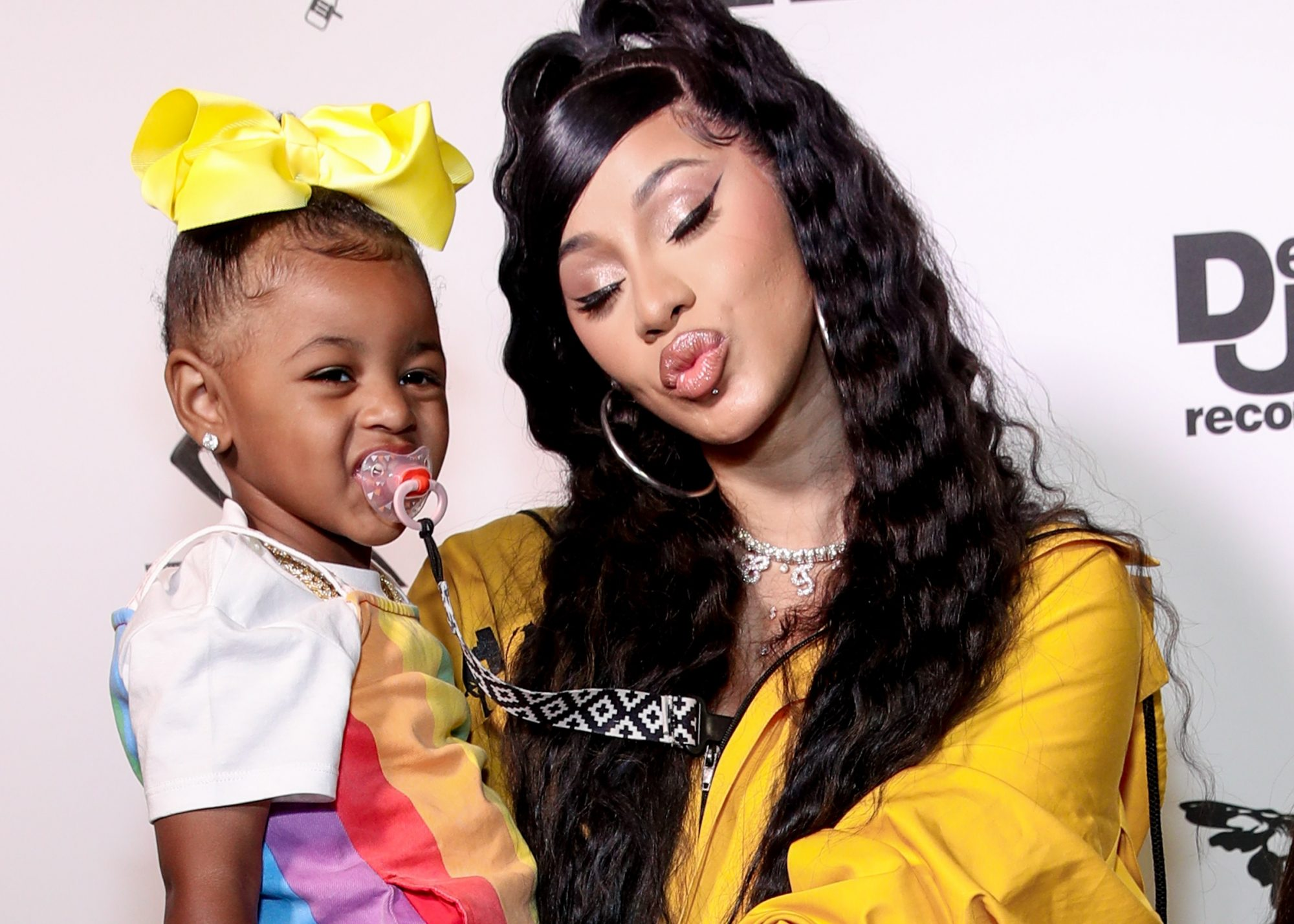 cardi b and daughter kulture pacifier