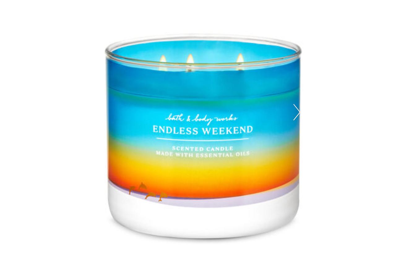 bath & body works candle summer