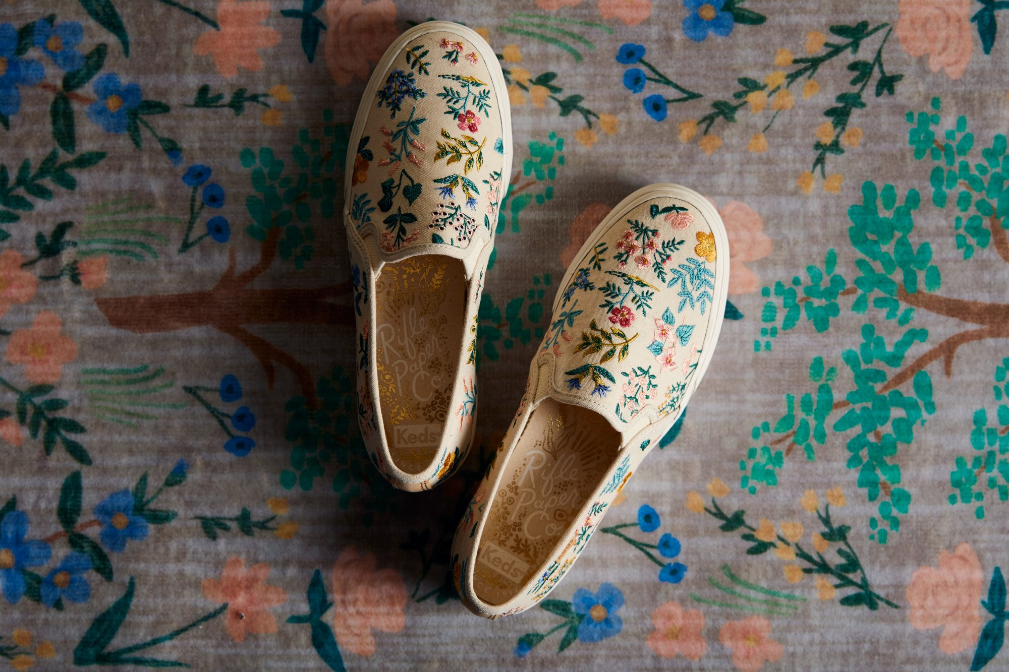 keds rifle paper co sneakers floral